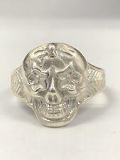 Mens Sterling Silver Skull Ring 925  Biker Ghost NEW DESIGN !! NEW Skull Line