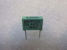 2 condensateurs 0,22uF 220nF 63V ERO MKT1822