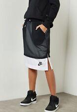 Nike Sportswear Women's Mesh Long Skirt Black White 848527 010 NWT Size MEDIUM
