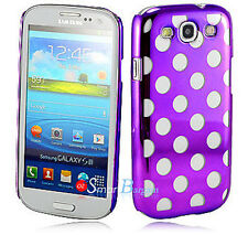 New PURPLE DOT HARD Cover Case For SAMSUNG S3 S III i9300 + Screen Protector