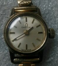 "Girls / Ladies Mechanical Vintage Wrist Watch 9ct Solid Gold ""Omega"""