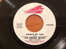 THE MOODY BLUES - Vinyl 45rpm Single - QUESTIONS / CANDLE OF LIFE