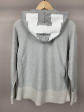 HEAD PORTER PLUS Zip Graphic H Hood Gray & White Hoodie Sweatshirt Fits Sz Small