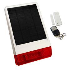 Solar Sirena Inalámbrica Casa ladrón intruso alarma-Puerta De Contacto Y Llavero