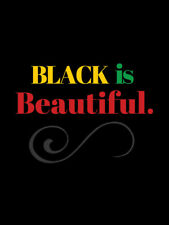 Black is Beautiful Poster Pan African Colors American Americana Africa (18x24)
