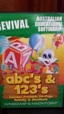 ABC's & 123's Ages 3-6  PC GAME - FREE POST *