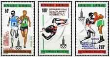 Timbres Sports JO Athlétisme Boxe Gabon PA237/9 ** (31939N)