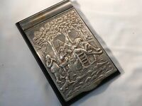 Figural silver holder Barbour Co silver plate NOTE PAD HOLDER