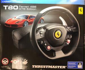 Thrustmaster T80 Ferrari 488 GTB Edition Racing Wheel for PS4 NEW