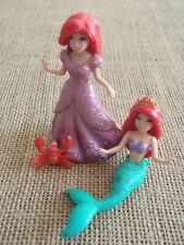 Polly Pocket Disney Princess Lot MagiClip Dress Little Mermaid Ariel Lot E22