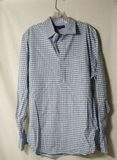 Banana Republic Mens Large Shirt Long Sleeve Casual Button-Down Plaid 12.1 oz