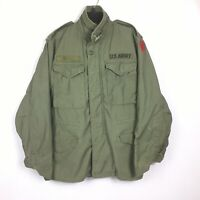 Vintage US Army M-65 Field Jacket Cold Weather 5th Infantry Red Diamond Size XS