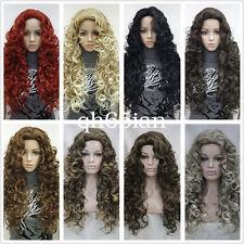 15 Colores Larga Espiral Rizos Mujer Damas Pelo Natural Pelucas de disfraz diaria