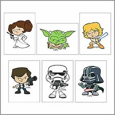 Star Wars Tattoos x 12 - Party Favours - Pop Culture Star Wars - Birthday Party
