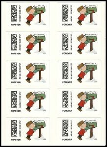 US CVP93 Charlie Brown Christmas Kiosk ATM forever sheet (10 stamps) MNH 2015