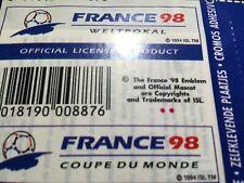 Pochette Panini Foot France 98 vide sans Stickers ouverte
