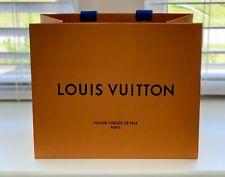 "NEW Louis Vuitton Empty Orange Shopping Gift Paper Bag 8.5"" x 7"" x 4"""