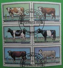 Nederland NVPH 2973 - 2978 blok Rundveerassen koeien 2012 mooi gestempeld