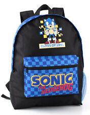 Sonic The Hedgehog Backpack Retro Gamer Gift Boy's Kids School Bag Rucksack
