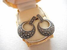 Sterling Silver Marcasite Drop Earrings    289113