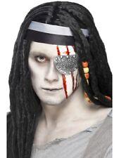 Pirata Benda sull'Occhio Mutilazione Zombie Horror KIT Pirati Halloween Fancy Dress