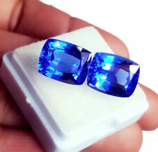 Loose Gemstone 6 to 10 cts  GIA Certified Pair Natural Blue Sapphire Cushion Cut