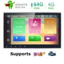 "10.1"" HEXA-Core 4GB+64GB Android 9.0 Car Stereo Radio DVD GPS HDMI Head Unit 4K"