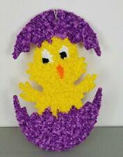 Vintage Melted Plastic Popcorn Easter Decoration Baby Chick Hatching Egg Spring