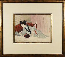 Toshikata Mizuno (Japanese,1866-1908) Original Woodblock Print Signed