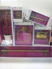 Seis piezas de oro de accesorios de baño baño montado en la pared