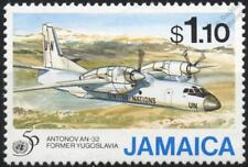United Nations (UN) ANTONOV AN-32 Cline Aircraft Stamp (1995 Jamaica)