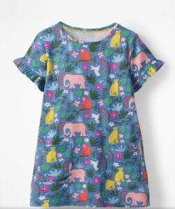 Mini Boden Girls Colourful Pocket Summer Tunic Dress Indian Garden 2-11 Years