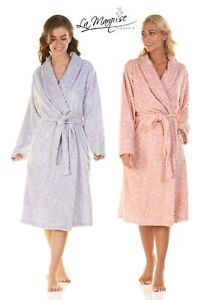 LADIES ROSES IN BLOOM SUPERSOFT SHAWL COLLAR ROBE/WRAP DRESSGOWN SIZES S/XL17255