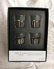 Rag & Bone New York Set of Four Shot Glasses in Box 2012 Target Neiman Marcus