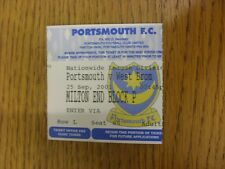 25/09/2001 Ticket: Portsmouth v West Bromwich Albion  . Thanks for viewing this