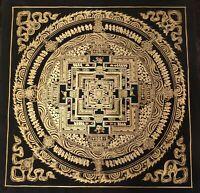 Genuine HandPainted Tibetan Mantra Mandala thangka Painting Meditation Buddha i