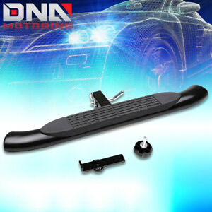 """37"""" x 4"""" OVAL 2""""RECEIVER BLACK TRAILER TOWING TAILGATE/HITCH STEP BAR/PEDAL+PIN"""