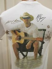 KENNY CHESNEY COSTA SUNGLASSES T SHIRT CIRCA 2012, WITH DOUBLE AUTOGRAPH