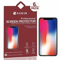 iPhone X Screen Protector 6 in Pack Matte Anti-Glare Film For Apple iPhone 10