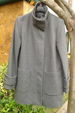 Kenneth Cole New York Women'sTwill Wool Coat, Gray , Size 12, MSRP $248