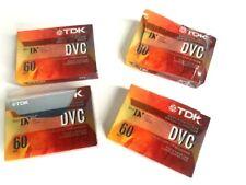 Tdk Dvc Mini Dv Camcorder Digital Video Cassette Dvm60Me Lot of Four (4) - New