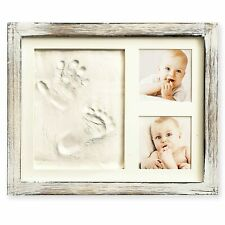 Baby Hand and Footprint Kit in Rustic Farmhouse Frame, a Baby Registry Must H...
