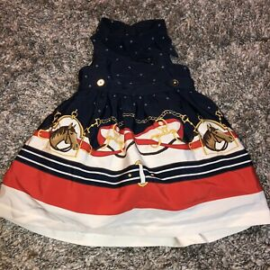 Janie & Jack Estate Stables Equestrian Horse Dress Size 3-6 months Horse Scarf