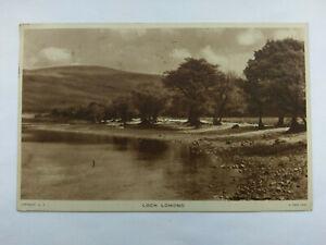 Loch Lomond, Trossachs Scotland Vintage B&W Postcard 1953