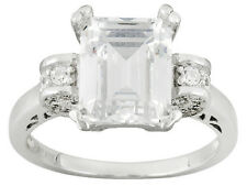 Bella Luce (R)Engagement Ring W/6.88ctw CZ in Rhodium Plated 925 Sterling silver