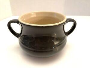 Le Creuset Olive Green Double Handled Soup Mug Bowl Stoneware