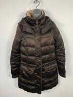 WOMENS TOMMY HILFIGER BROWN CASUAL DOWN PADDED WINTER PUFFER JACKET SIZE SMALL