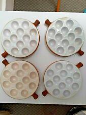 4 x Emile Henry 12 Escargot Snail Quail Egg Baking Dish