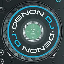 More details for denon dj prime 4 / prime 2 jog stickers / slipmat graphics x 2 (x1850 / x1800)