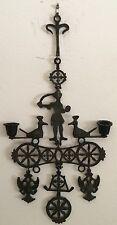 Greek Orthodox Vintage Metal Hanging Candleholder Double Headed Eagle Unique!